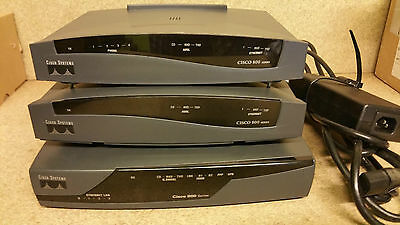 Lote 3 Router Cisco 800 Series
