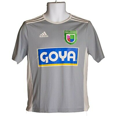 bed44a0cc Youth Boys adidas Climalite Copa Univision Goya Gray Soccer Jersey Size L  Large
