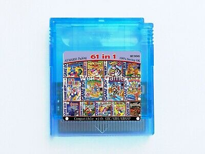 61 in 1 Game Boy COLOR GBC Multi Cart  Super Mario Land 2 - 6 Golden / Megaman..