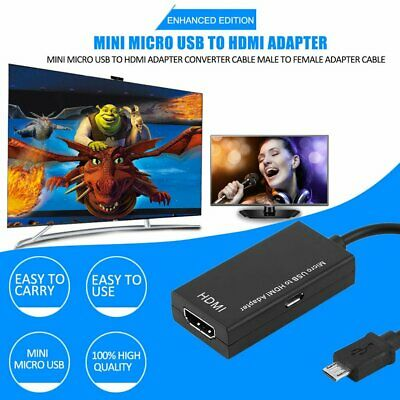 Mini Micro USB To HDMI Adapter Converter Cable Male To Female Adapter AZ