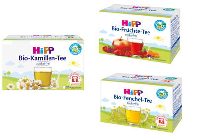 HIPP Tea Healthy drink for babies 20 bags TOP DEAL! Fennel - Fruit - Chamomile