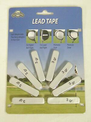 Golf Club Head Weights 8 Pre Cut Lead Tape Strips