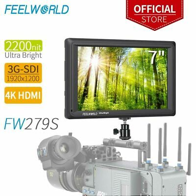 Feelword FW279 7inch IPS Screen 4K HDMI Video Camera Monitor For Camcorder/DSLR