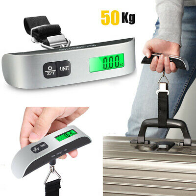 New 50Kg Travel Portable Handheld Luggage Weighing Digital Scales Suitcase Bag