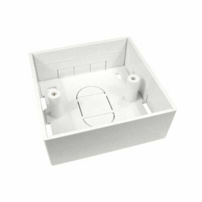 1 x White Plastic Single Gang Back Box 32mm (86mm x 86mm x 32mm)