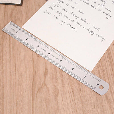 52CD 20cm 8 inch Stainless Steel Metal Straight Ruler Precision Double Sided*