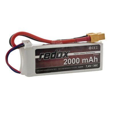 REDOX - 2000 mAh 7,4V (2s) 30C - LiPo Battery pack - GALAXY RC