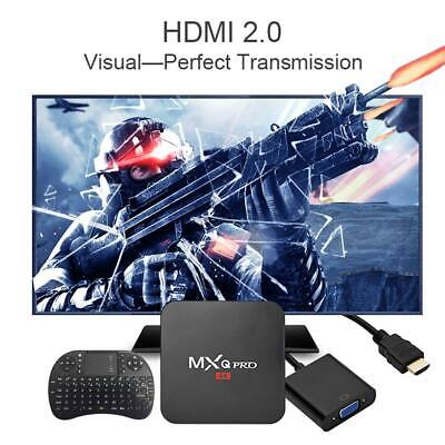 MXQ Pro Android 7.1 Quad Core 1+8G DDR3 3D Smart TV Box Set-top Box + Keyboard