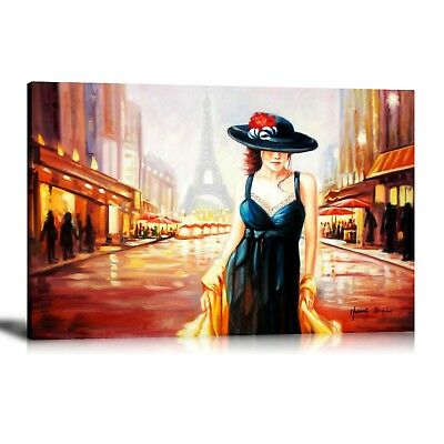 HD Print Oil Painting Home Decor Art on Canvas Amelie in Paris Unframed