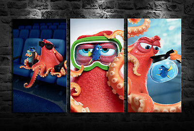 HD Print Oil Painting Home Wall Decor Art On Canvas Finding Nemo 3PCS Unframed