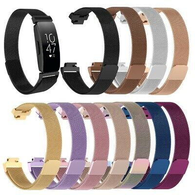 New Milanese Loop Magnetic Stainless Steel Strap watch Band for Fitbit Inspire