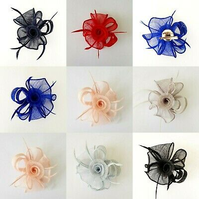 Ladies Day Flower Fascinator Brooch Pin Clip Wedding Hat Royal Ascot Party Race