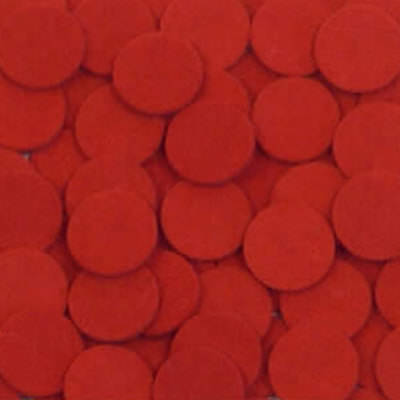 Red Felt Disks - 50pc