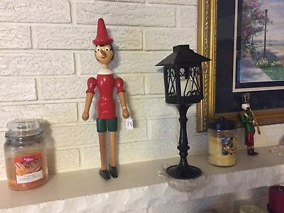 Vintage Wood Pinochio Figure Toy Jointed Shoulders and Hips Christmas