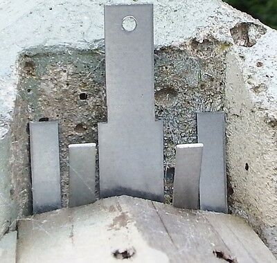 40 Anti Rattling Fence Panel Clips Wind Gale For both 100 &125mm Concrete Posts