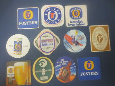 11 different FOSTERS LAGER / Brewery,,Victoria  BEER COASTERS colectable