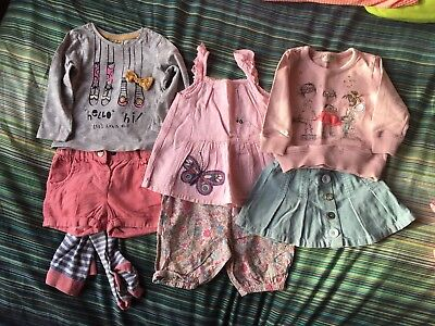 Girls NEXT Bundle Outfits From 9months +good Condition