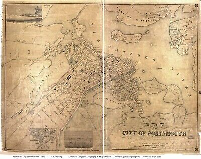 A4 Reprint of Old Maps Reprinted Map Of City Of Portsmouth