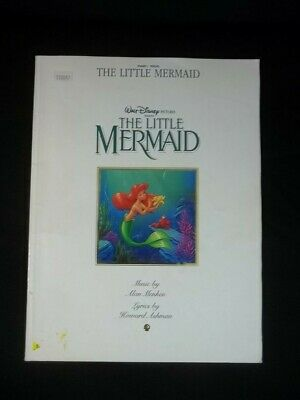 Walt Disny The Little Mermaid Piano Vocal Sheet Music Book 1989