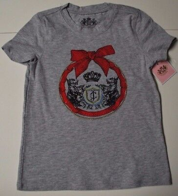 BNWT Beautiful Designer JUICY COUTURE Girls Gray Top Size S-4/5