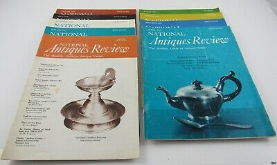 Lot of 9 Vintage NATIONAL ANTIQUES REVIEW Magazines : 1969 – 1973