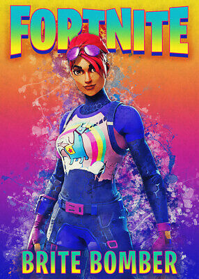Unofficial Game Posters, Wall Art, Battle Royal, Brite Bomber, Fortnite