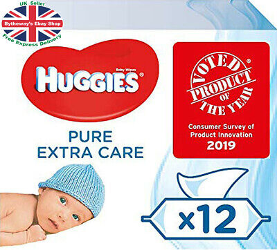 Huggies Pure Extra Care Baby Wipes - 12 Packs (672 Wipes) *BRAND NEW*
