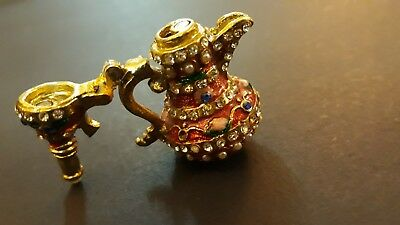 Home Decor Dallah Coffee Pot Brass Antique Arabic Middle Eastern Copper souviner