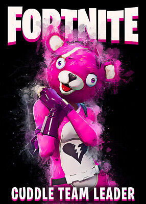 Unofficial Game Posters, Wall Art,  Battle Royal, Cuddle Team Leader, Fortnite