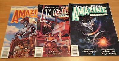 3 x Amazing Stories 'World's First SF' Mag 1993 - #585, 587 & 588