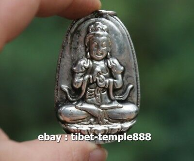 Collection-Tibetan-Silver-Hand-Carved-Compass-statue