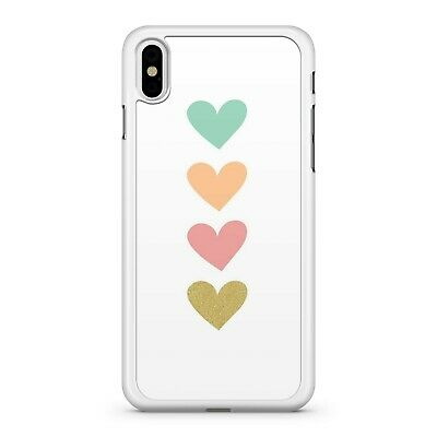 Dreamy Gold Hot Pink Lush Orange Cool Green Love Hearts 2D Phone Case Cover