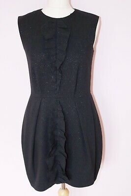 43bfdbcd7360 Black Cos Dress Ruffle Frill Shimmer Detail Shift Tulip Style 10 Blogger  Trend