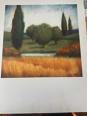 "This Auction Is For An Original Hand Signed Watercolor Jensen ""Wheat Place"""