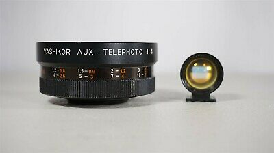 Yashikor Aux. Telephoto 1:4 Y201 with Tele-Wide Finder-Japan-Very Clean