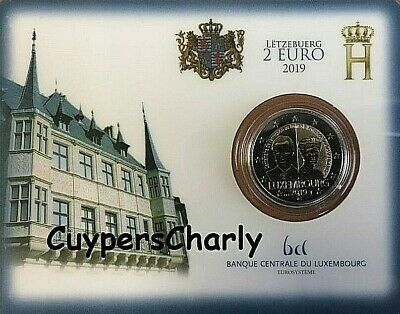 Luxemburg 2019 2€ Coin Card BU Groothertogin Charlotte **MINT MARK BRUG**