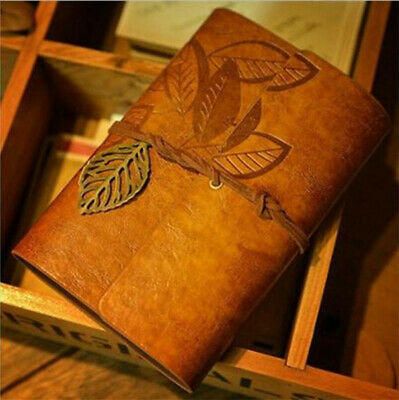 Vintage Classic Retro Leather Journal Travel Notepad Notebook Brown Diary