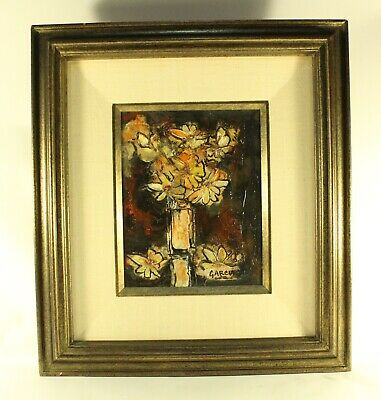 Danny Garcia Damar Varnish Art Original Acrylic Floral Painting Signed #4771