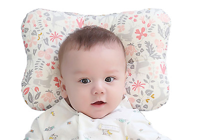 Baby Pillow For Newborn Breathable 3D Air Mesh Organic Cotton, Bambi Pink