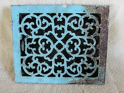 Antique Victorian Scroll Pattern Heat Register Grate, Salvage