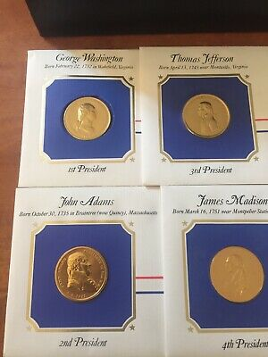 Set of The Presidential Medals Cover Collection,in Presentation Box, 24k Plated