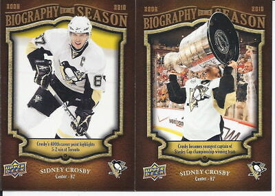Upper Deck Biography Of A Season Hockey Cards 08/09 09/10 10/11 U-Pick From List