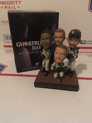 2016 Quad Ghostbusters Milwaukee Brewers Bobblehead Jeffress Jungmann Nelson