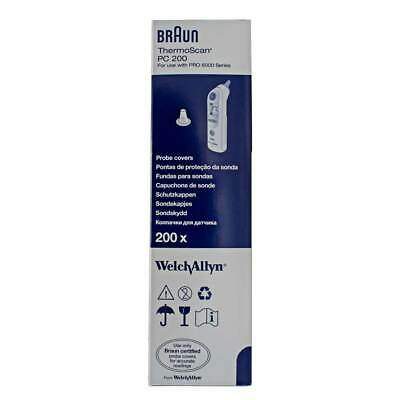 Welch Allyn BRAUN THERMOSCAN PRO 6000/4000 Ear Probe Covers 200/BOX, 800/Case