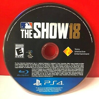 MLB: The Show 18 (Sony PlayStation 4, 2018)(DISC ONLY) #20184