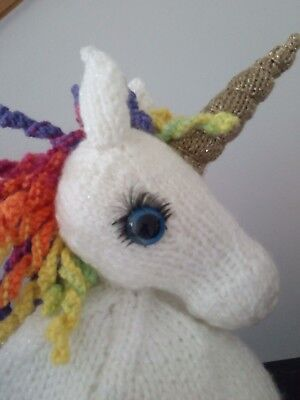 Hand Knitted Tea Cosy  - Sparkly Unicorn - fits 6 cup teapot