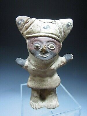Pre Columbian Peru Central Coast Pottery Cuchimilco Tomb Guardian ca. 1000 AD