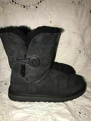 9561827f0c3 UGG WOMEN'S BAILEY Button Boots Suede Black 5803 Size 7 #1 - $60.00 ...