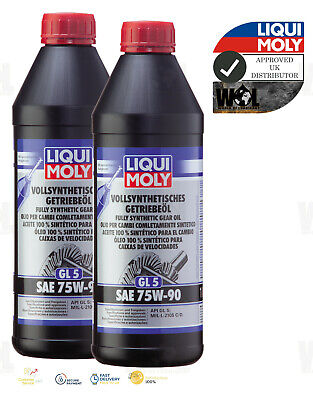 2 Liters Liqui Moly Fully Synthetic Gear Oil (GL5) SAE 75W-90 1414
