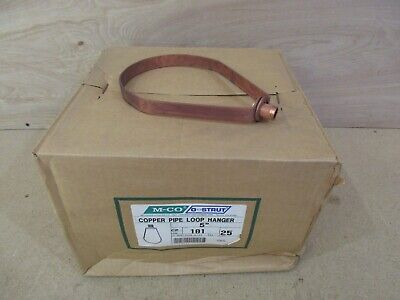 Box of 25 Copper Pipe Swivel Loop Hangers 5""
